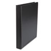 "Suede Finish Vinyl Round Ring Binder, 1"" Capacity, Black"