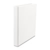 "Suede Finish Vinyl Round Ring Binder, 1"" Capacity, White, 12/Carton"