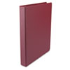 "Round Ring Binder, Suede Finish Vinyl, 1"" Capacity, Burgundy"