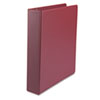 "Suede Finish Vinyl Round Ring Binder, 1 1/2"" Capacity, Burgundy"