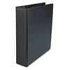 "Suede Finish Vinyl Round Ring Binder, 2"" Capacity, Black"