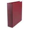 "Round Ring Binder, Suede Finish Vinyl, 2"" Capacity, Maroon"