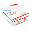 Security Tinted Window Business Envelope, V-Flap, #10, White, 500/Box