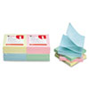 Universal Fan-Folded Pop-Up Notes, 3 x 3, 4 Pastel Colors, 12 100-Sheet Pads/Pack