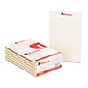 Colored Perforated Note Pads, Wide Rule, 5 x 8, Ivory, 50-Sheet, Dozen