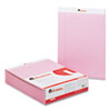 Colored Perforated Note Pads, 8-1/2 x 11, Pink, 50-Sheet, Dozen
