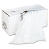 High-Density Shredder Bags, 28w x 22d x 48h, 100 Bags/Carton, Clear