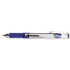 High Capacity Roller Ball Stick Gel Pen, Blue Ink, Needle, Dozen