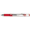 High Capacity Roller Ball Stick Gel Pen, Red Ink, Needle, Dozen