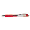 Roller Ball Retractable Gel Pen, Red Ink, Medium, Dozen