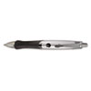Universal Roller Ball Retractable Gel Pen, Black Ink, Medium, 3 per Pack