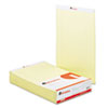 Perforated Edge Writing Pad, Legal/Margin Rule, Legal, Canary, 50-Sheet, Dozen