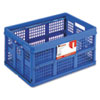 Filing/Storage Tote Storage Box, Plastic, 22-1/2 x 15-3/4 x 12-1/4, Blue