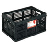 Filing/Storage Tote Storage Box, Plastic, 22-1/2 x 15-3/4 x 12-1/4, Black