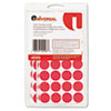 Permanent Self-Adhesive Color-Coding Labels, 3/4in dia, Red, 1008/Pack