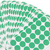 Permanent Self-Adhesive Color-Coding Labels, 3/4in dia, Green, 1008/Pack