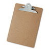 Hardboard Clipboard, 1-1/4&quot; Capacity, Holds 8-1/2 x 11, Brown