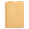 Kraft Clasp Envelope, Side Seam, 32lb, 9 x 12, Light Brown, 100/Box