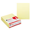 Glue Top Writing Pads, Narrow Rule, Ltr, Canary, 50-Sheet Pads/Pack, Dozen
