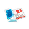 Hanging File Folder Plastic Index Tabs, 1/5 Tab, Two Inch, Blue, 25/Pack