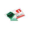 Universal Hanging File Folder Plastic Index Tabs, 1/5 Tab, Two Inch, Green, 25/Pack