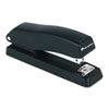 Economy Half Strip Stapler, 12-Sheet Capacity, Black