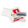 "Hanging File Folder Plastic Index Tabs, 1/3 Tab Cut, 3 1/2"" Tab, Clear, 25/Pack"