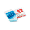 Universal Hanging File Folder Plastic Index Tabs, 1/3 Tab, 3 1/2 Inch, Blue, 25/Pack
