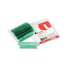 Universal Hanging File Folder Plastic Index Tabs, 1/3 Tab, 3 1/2 Inch, Green, 25/Pack
