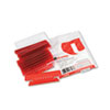 Universal Hanging File Folder Plastic Index Tabs, 1/3 Tab, 3 1/2 Inch, Red, 25/Pack