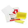 Universal Hanging File Folder Plastic Index Tabs, 1/3 Tab, 3 1/2 Inch, Yellow, 25/Pack