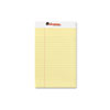 Perforated Edge Writing Pad, Jr. Legal Rule, 5 x 8, Canary, 50-Sheet, Dozen