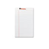 Universal Perforated Edge Writing Pad, Jr. Legal Rule, 5 x 8, White, 50-Sheet, Dozen