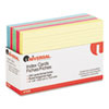 Index Cards, 4 x 6, Blue/Salmon/Green/Cherry/Canary, 250/Pack