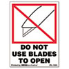 DO NOT USE BLADES TO OPEN Self-Adhesive Shipping Labels, 3 x 4, 500/Roll