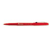 Universal One Porous Point Stick Pen, Red Ink, Medium, Dozen