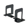 Universal Economy Bookends, Standard, 4 3/4 x 5 1/4 x 5, Heavy Gauge Steel, Black