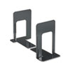 Universal Economy Bookends, Nonskid, 5 7/8 x 8 1/4 x 9, Heavy Gauge Steel, Black