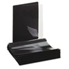 """Universal One Paper Report Cover, Tang Clip, Letter, 1/2"""" Capacity, Clear/Black, 25/Box"""