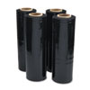 Black Stretch Film, 18w x 1, 500ft Roll, 20mic (80-Gauge), 4/Carton