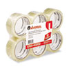 Box Sealing Tape, 2&quot; x 55 yards, 3&quot; Core, Clear, 6/Box