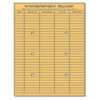 Light Brown Kraft String &amp; Button Interoffice Envelope, 10 x 13, 100/Box