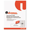 Universal Laser Printer Permanent Labels, 1 x 4, White, 5000/Box
