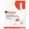 Universal Laser Printer Permanent Labels, 2 x 4, White, 2500/Box