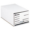 Storage Box Drawer Files, Legal, Fiberboard, 15&quot; x 24&quot; x 10&quot;, White, 6/Carton