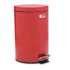 Medi-Can, Round, Steel, 3 1/2 gal, Red
