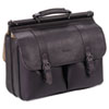 Leather Laptop Case, Leather, 16-1/2 x 5 x 13, Espresso