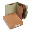ACCO Pressboard 25-Pt. Classification Folder, Letter, 8-Section, Leaf Green, 10/Box
