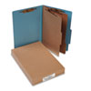 ACCO Pressboard 25-Pt. Classification Folders, Legal, Six-Section, Sky Blue, 10/Box