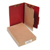 ACCO Pressboard 25-Point Classification Folder, Legal, 4-Section, Earth Red, 10/Box, BX - ACC16034
